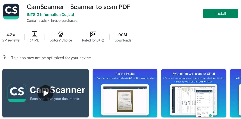 Camscanner For Mac