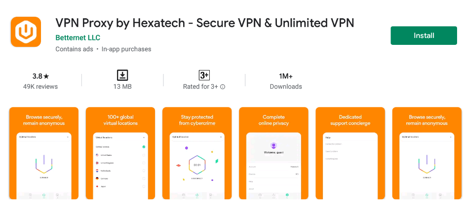 Hexatech VPN for mac