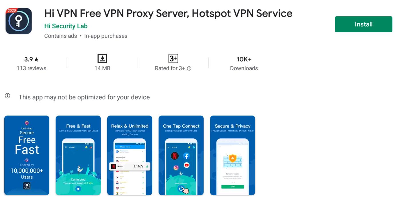 Hi VPN for Mac