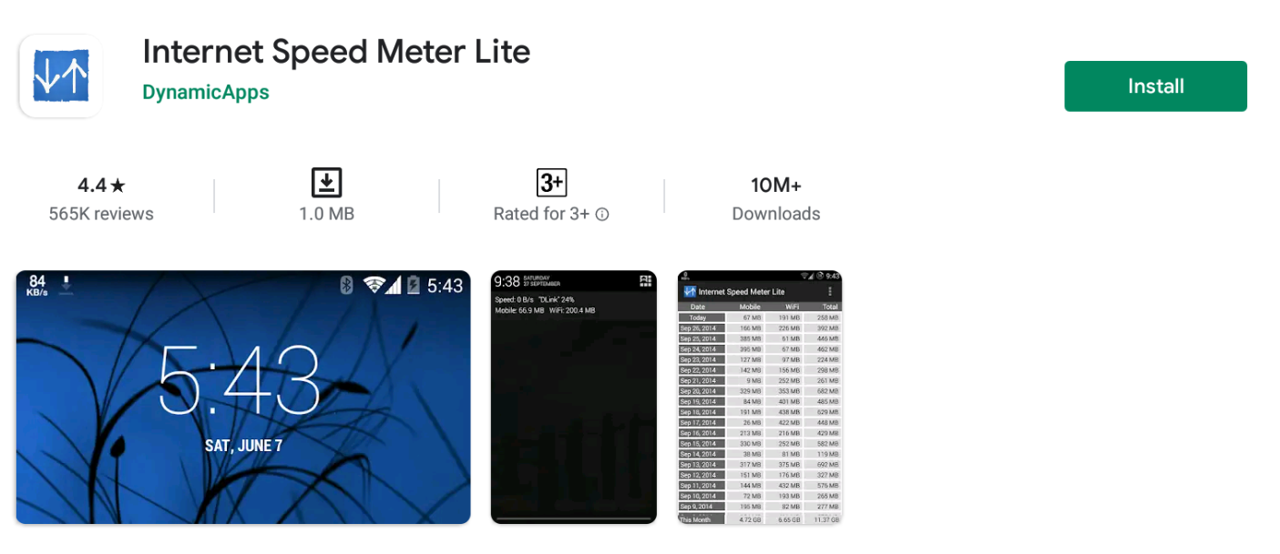 Internet Speed Meter Lite For Mac