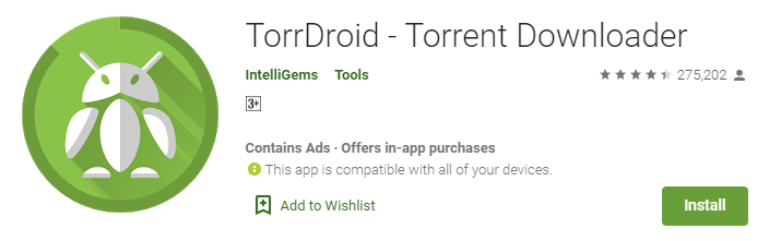 TorrDroid for mac