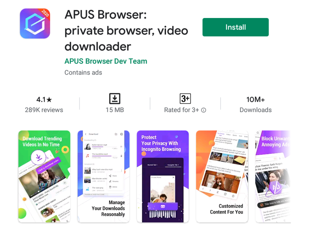 apus browser for Windows