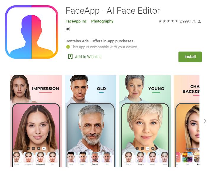FaceApp for Windows