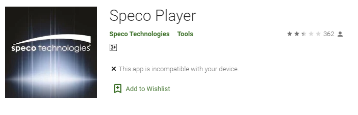 Speco Player for windows