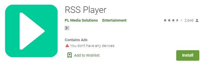 RSS Player for windows