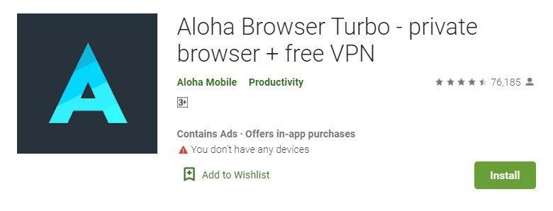 Aloha Browser for Mac