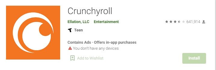 Crunchyroll App for Mac