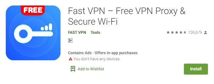 Fast VPN for PC