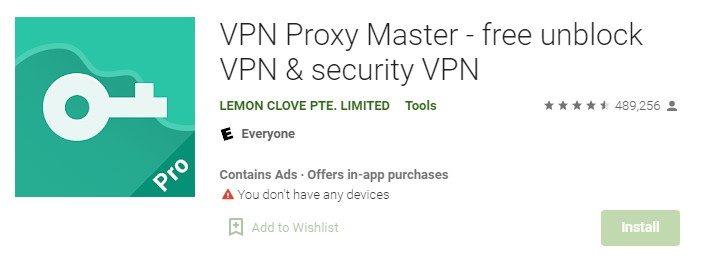 Master VPN for Pc