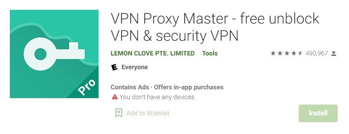 Proxy for pc