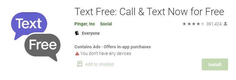 Text Free App on pc