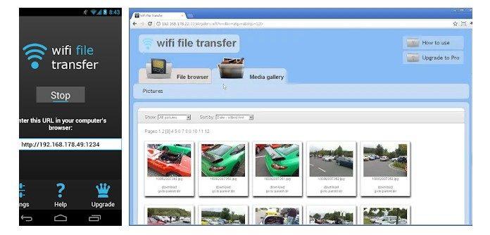 Wi-Fi file transfer on PC