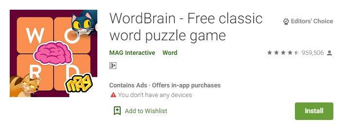 WordBrain for PC