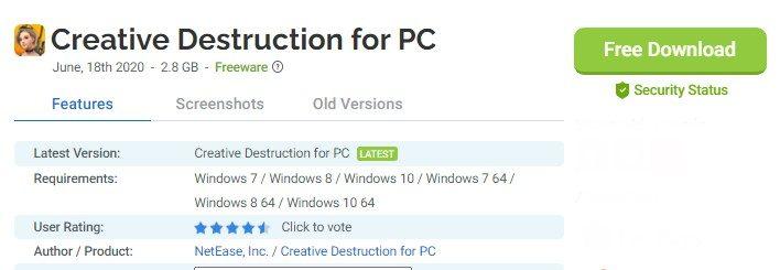 creative destruction for mac